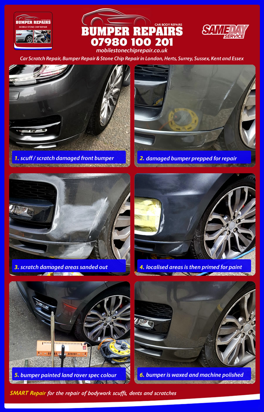 car scratch repair example